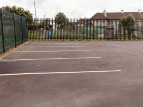Car Park formed. White lining identifies the car space.