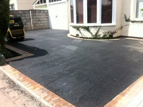 New tarmac drive with block paved edge - Eastwick Road, Taunton