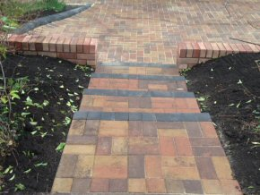 Block paving and block wall in Taunton, Somerset