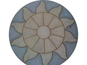 "Pre-formed ""Aurora circle"" paving in Taunton"