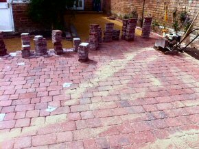 3 Size tumbled edge paving in Elm Grove, Taunton