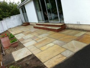 Indian Sandstone paving, Wiveliscombe