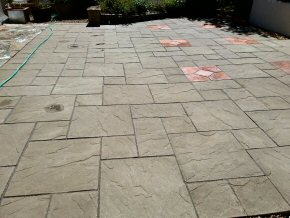Cleaning and re-pointing a patio in West Lyng (After)